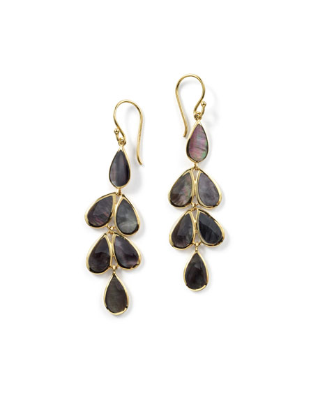 Ippolita 18K Rock Candy Teardrop Cascade Earrings in