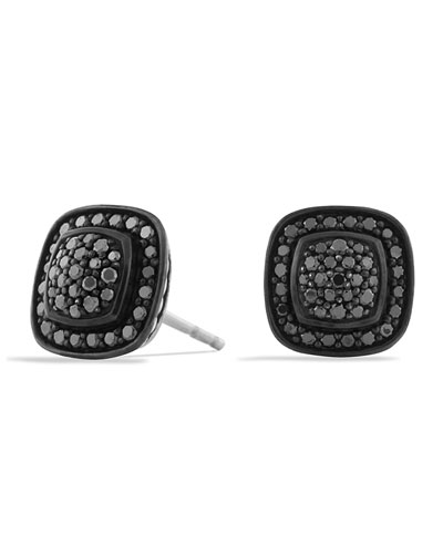 Albion Earrings with Black Diamonds