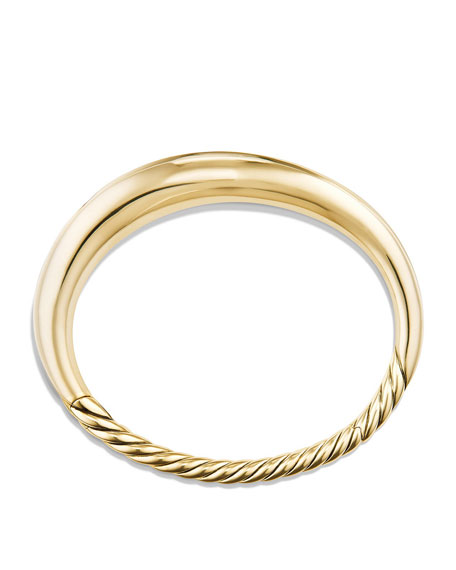 9.5mm Small Pure Form Hinge Bracelet in 18K Gold