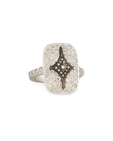Armenta New World Rectangular Pavé Crivelli Shield Ring