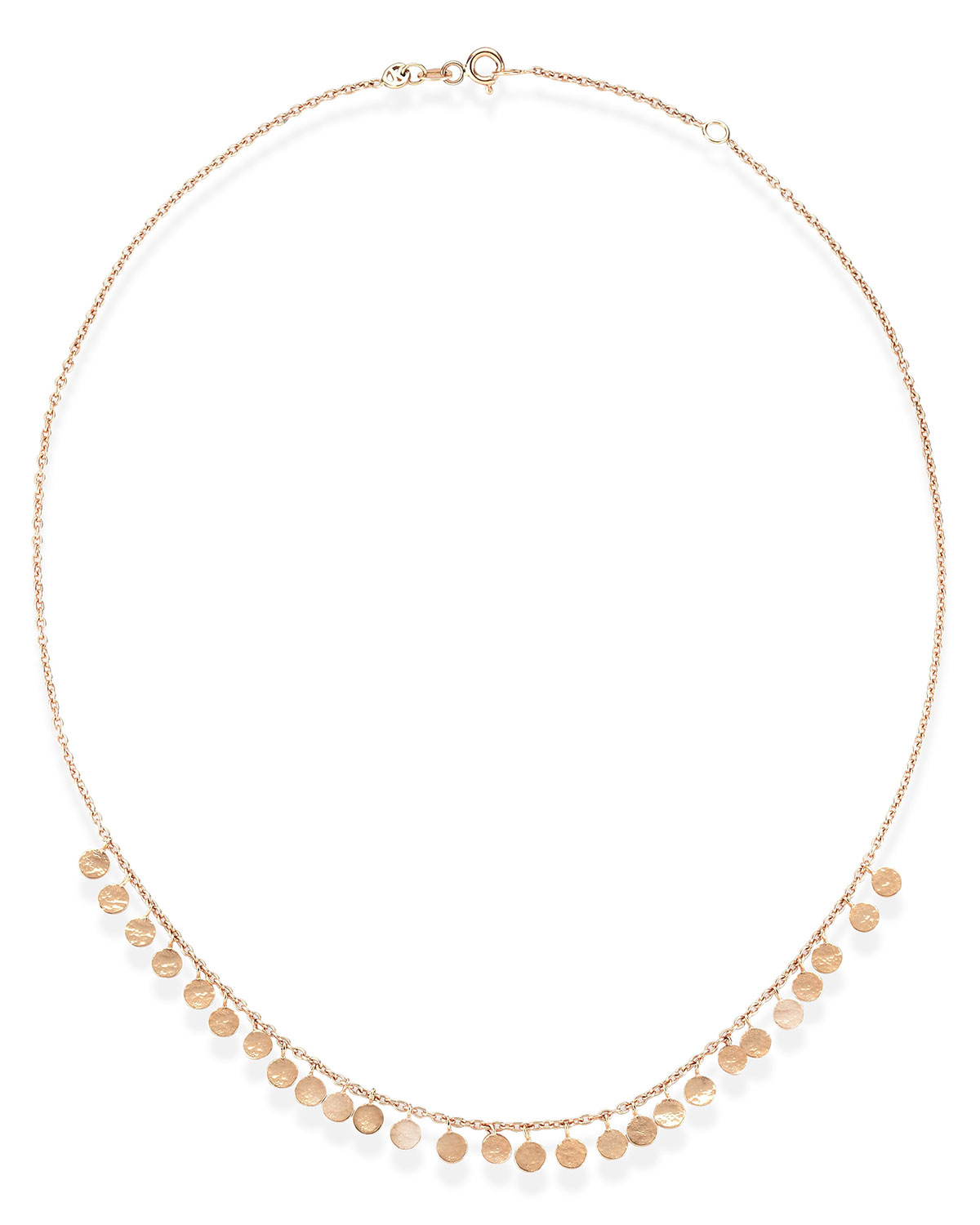 Kismet by Milka Seed Dangling Circle Necklace in 14K Rose Gold dNgAwa3