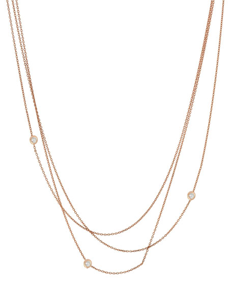 Kismet by Milka Beads Multilayer Diamond Bezel Chain