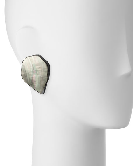 Freeform Petal Clip-On Earrings