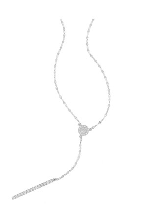 Lana Mirage Diamond Lariat Necklace in 14K White Gold