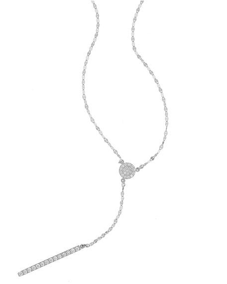 Mirage Diamond Lariat Necklace in 14K White Gold
