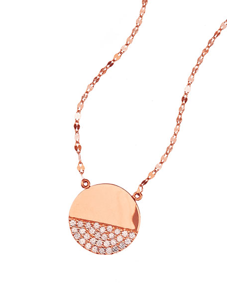 Flawless Illusion Disc Pendant Necklace in 14K Rose Gold