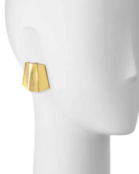 Pyramid Earrings , Clip-On