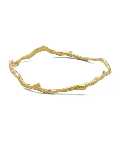 18K Gold Diamond Reef Bangle