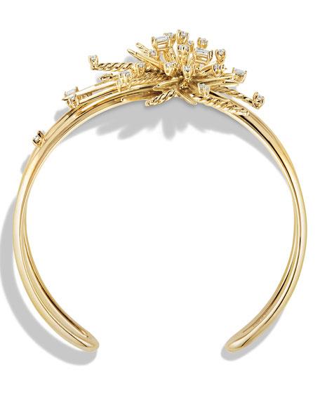 Supernova Cuff Bracelet with Diamonds in 18K Gold