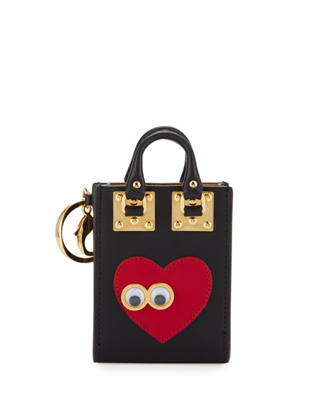 Albion Heart & Eyes Tote Card Holder, Black