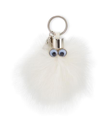 Casper Feather Key Ring, White