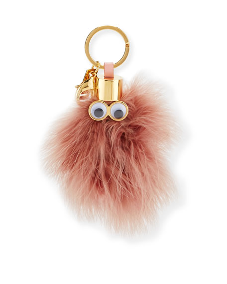Ethel Feather Key Ring, Taupe