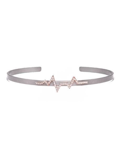 Cosmos Heartbeat Titanium Bracelet with Diamonds