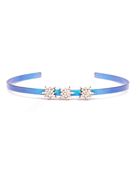 Diane Kordas Cosmos Diamond Triple Explosion Titanium Bracelet,