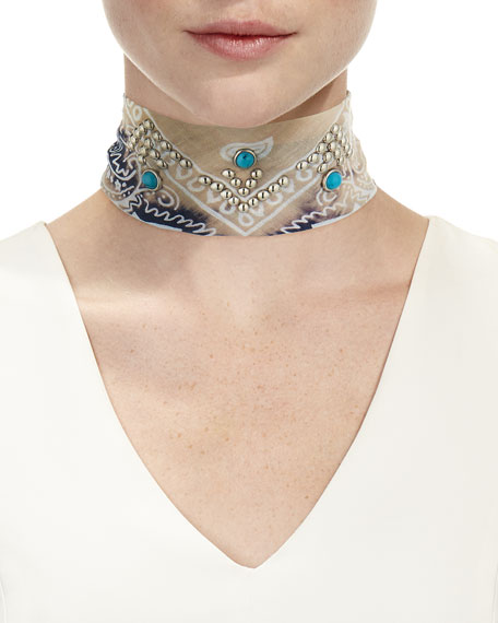 Blaine Bandana Choker Necklace
