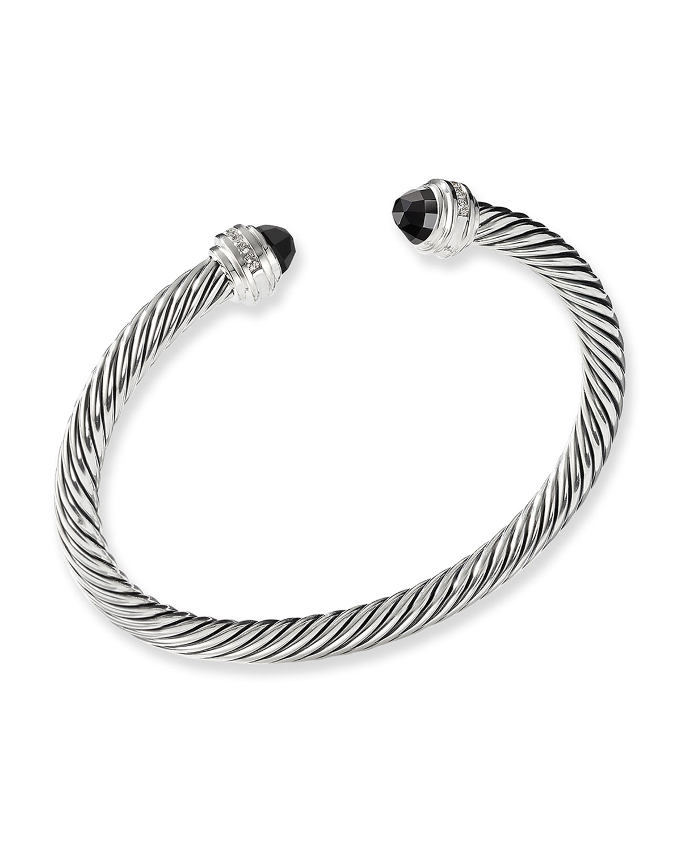 Cable Clics Bracelet With Hampton Blue Topaz And Diamonds