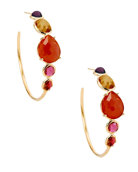 Ippolita 18K Rock Candy Gelato #3 Hoop Earrings