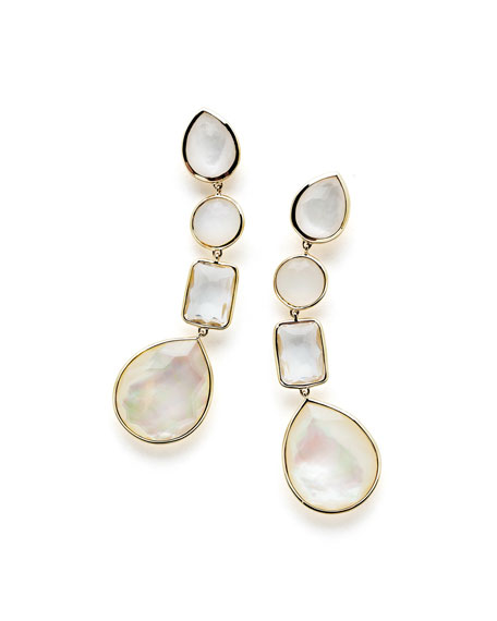 18K Rock Candy Linear Four-Drop Earrings in Flirt