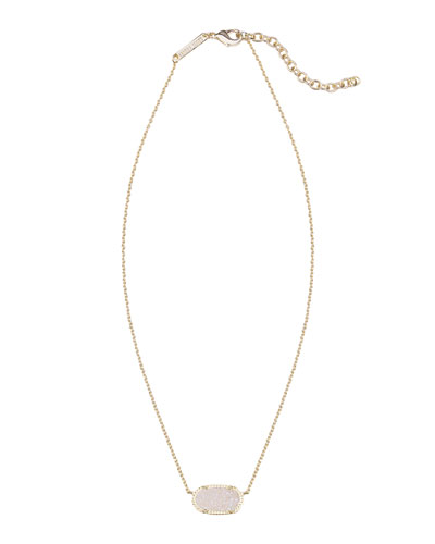 Elisa Iridescent Druzy Necklace