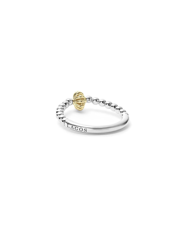 Lagos Icon Caviar Stacking Ring, Size 7