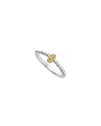 Icon Caviar Birdcage Stacking Ring, Size 7