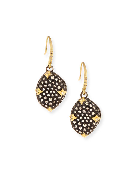 Armenta Old World Blackened Bean Drop Earrings with