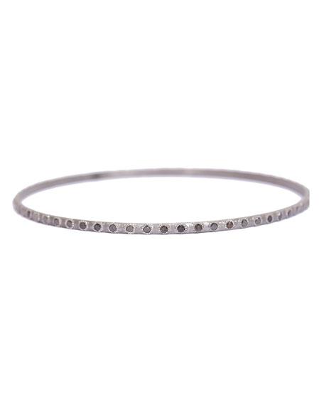 New World Eternity Bangle Bracelet with Black Diamonds