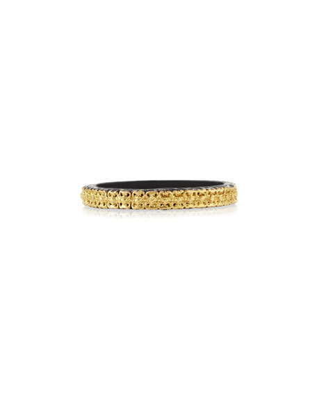 Armenta Midnight & 18k Gold Stackable Band Ring