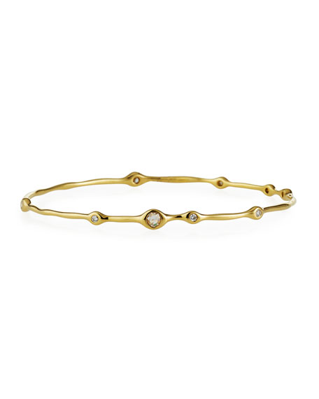 18K Gold Stardust Superstar 9-Diamond Bangle (0.5ctw)