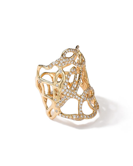 Ippolita 18k Gold Drizzle Ring with Diamonds