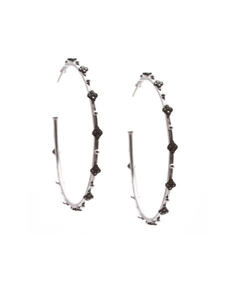 New World Crivelli Diamond Hoop Earrings