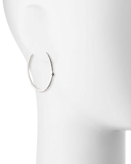 New World Black Sapphire Hoop Earrings