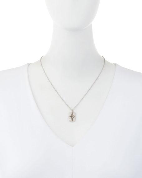 New World Crivelli Shield Pendant Necklace with Diamonds