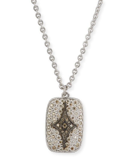 New World Crivelli Shield Pendant Necklace with Diamonds
