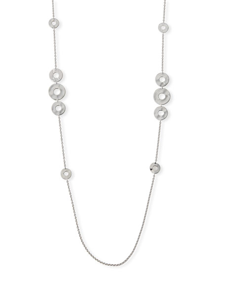"Senso Galaxy Disc Necklace in Sterling Silver, 38""L"