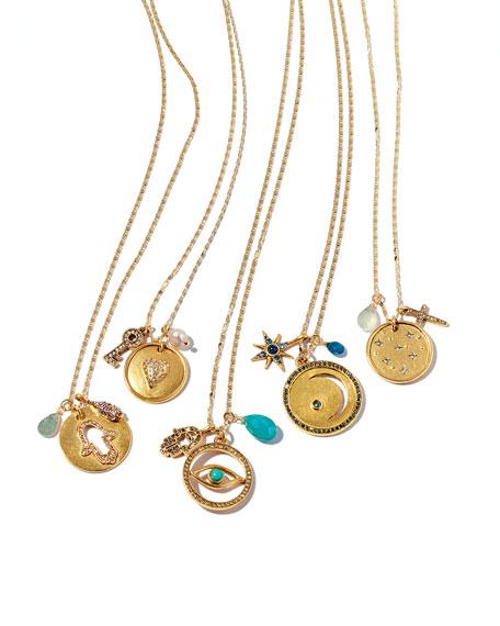 Night Sky & Cross Talisman Pendant Necklace