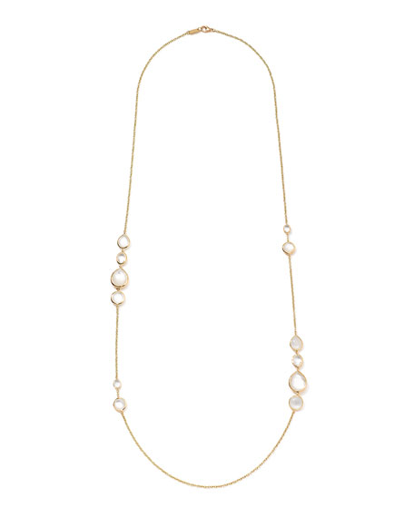 18K Rock Candy Gelato Grouped Station Necklace in Flirt, 37""