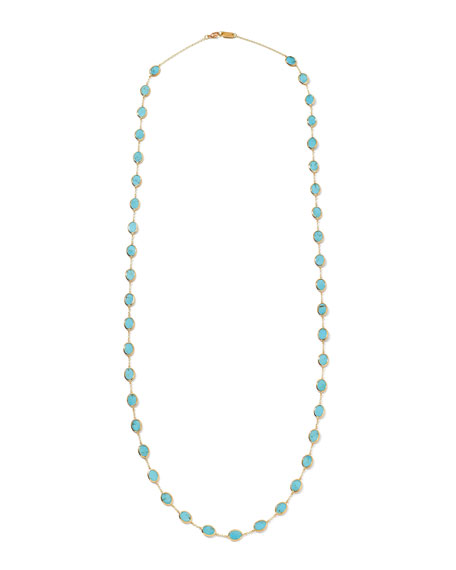 18k Polished Rock Candy Necklace in Turquoise