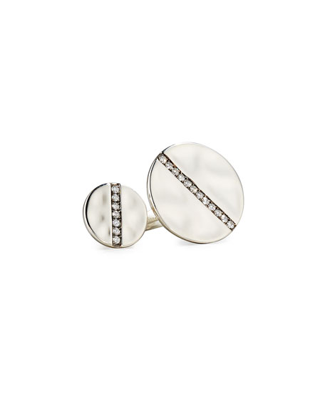Ippolita Sterling Silver Open Double-Disc Ring with Diamonds tu1F19l