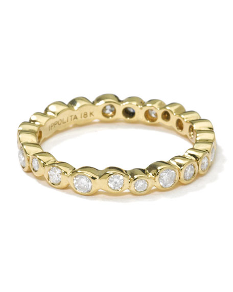 Ippolita 18K Gold Band Ring with Diamonds
