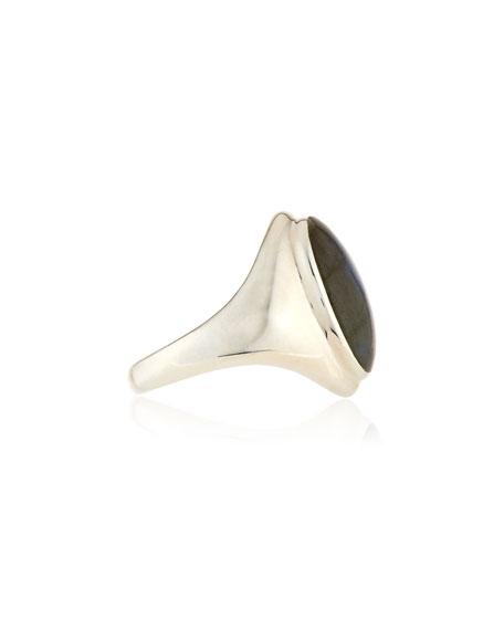 Labradorite Signet Statement Ring