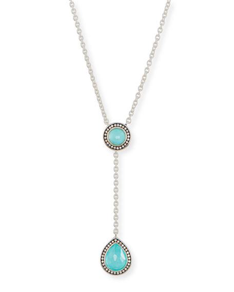 Ippolita 925 Lollipop Pear-Shaped Y-Drop Necklace with Diamonds
