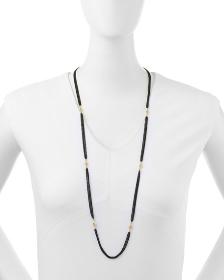 3-Strand Midnight Necklace, 36""