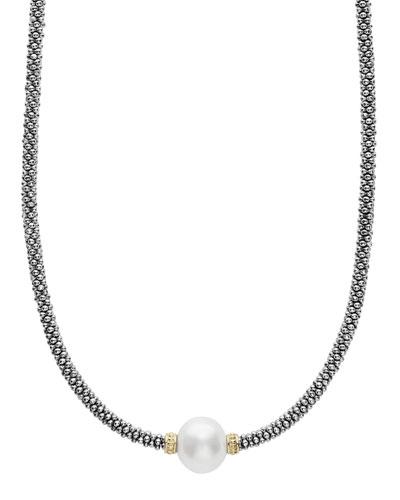 Luna Tahitian Pearl Rope Necklace, 18