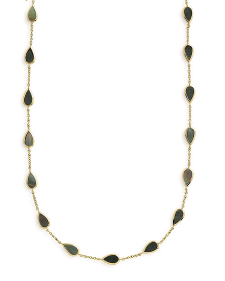 Ippolita 18K ROCK CANDY SMALL MOTHER-OF-PEARL PEAR-STATION NECKLACE, 18""