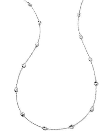 "Silver Station Necklace, 37""L"