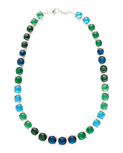 925 Rock Candy Wonderland Tennis Necklace in Taffeta, 16
