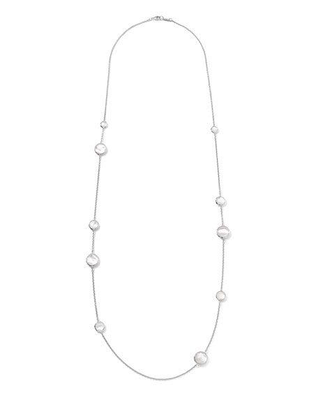 Sterling Silver Wonderland Lollipop Station Necklace in Mother-of-Pearl, 40""