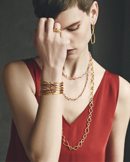 Continuance Twisted 18K Bracelet with Diamonds