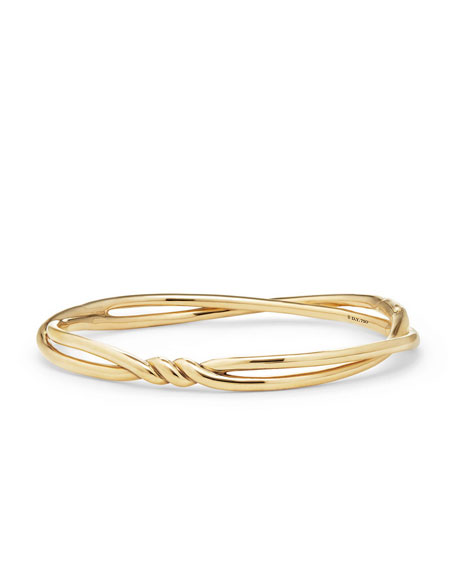 David Yurman Continuance 18K Gold Twist Bracelet, Size